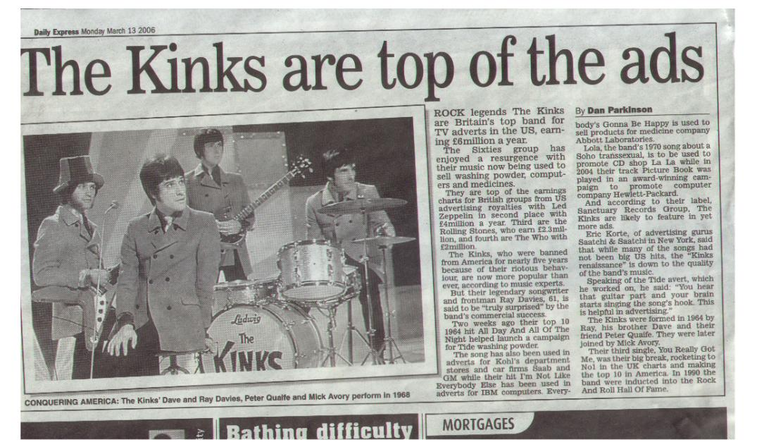 kinks articles